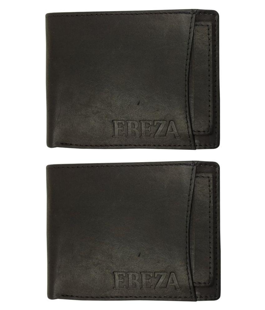 EBEZA Leather Black Casual Regular Wallet