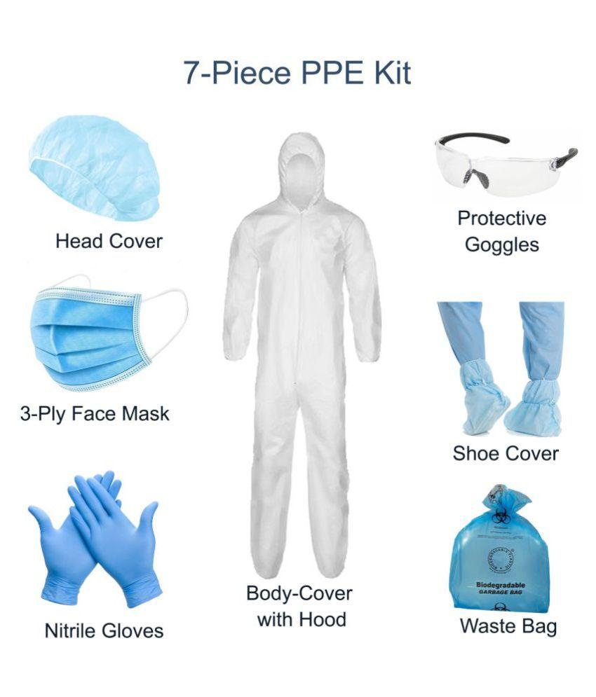 Khadi India Complete Body KIT Splash Protection Kit Suitable against Viruses protection