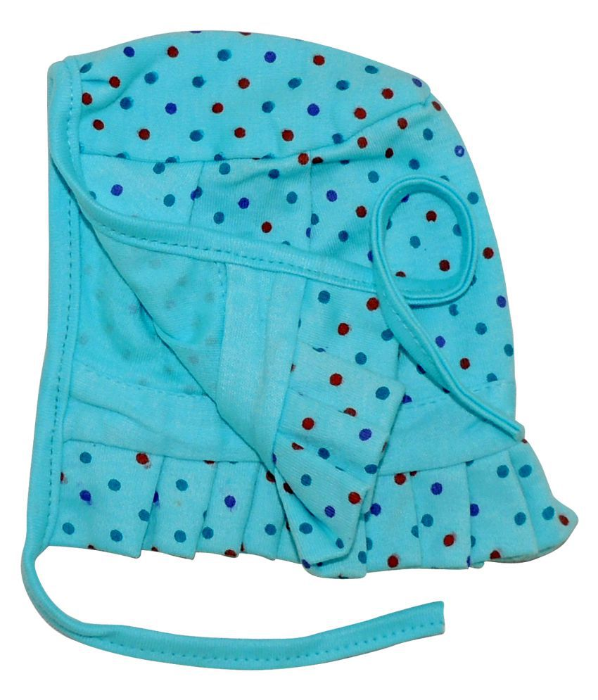 Life Begin with Satyamani Baby Deluxe Cap Dots Medium (6 to 9 months) size (Pack of 3)