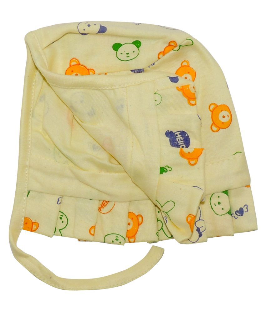 Life Begin with Satyamani Baby Deluxe Cap Printed Small (0 to 3 months) (Pack of 6)