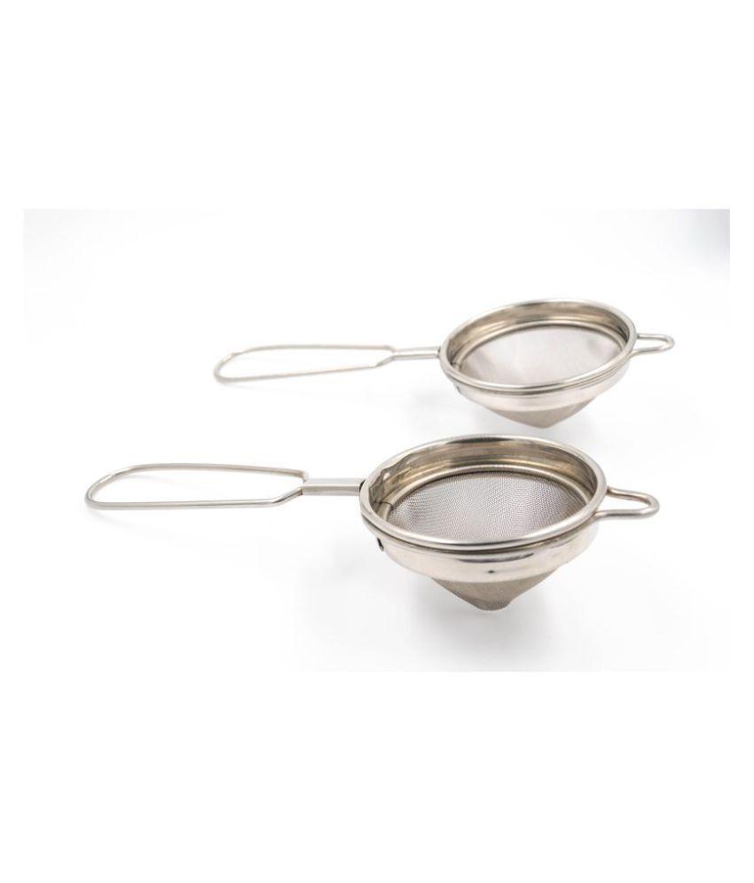 i WARE Steel 2 Pcs Tea Strainer