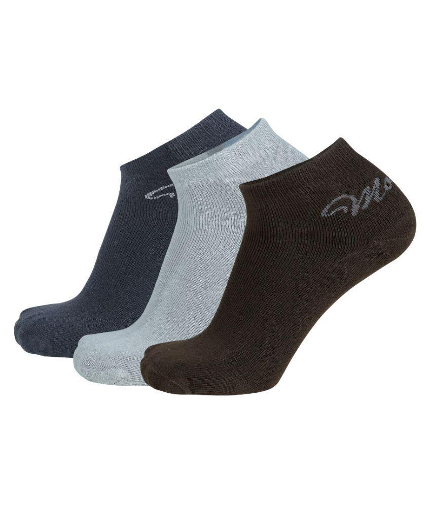 Montebello Multi Casual Ankle Length Socks Pack of 3