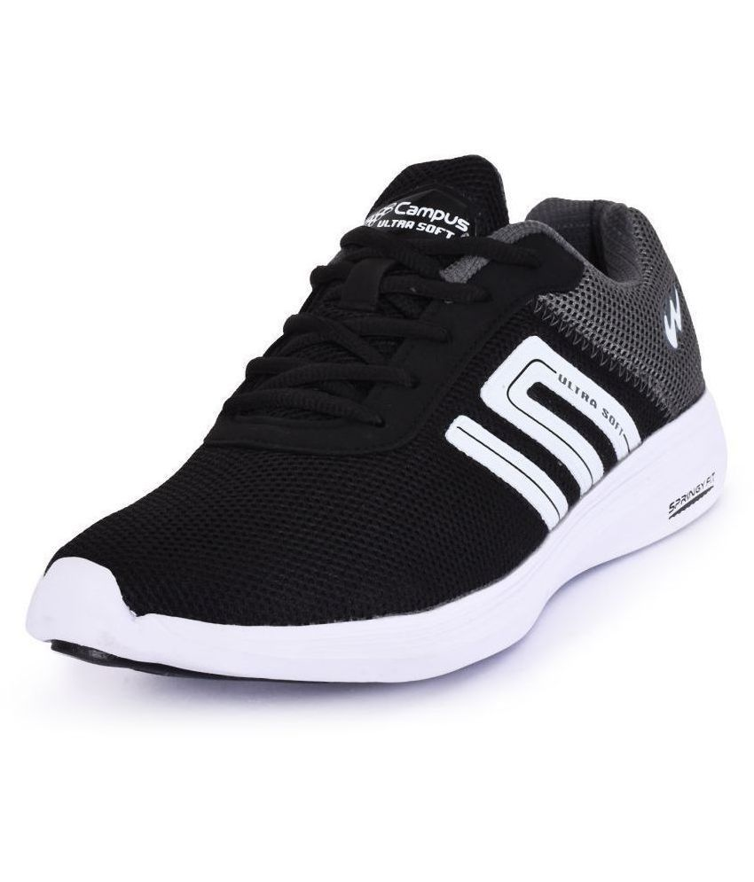 Campus DUSTER-2 Black Running Shoes