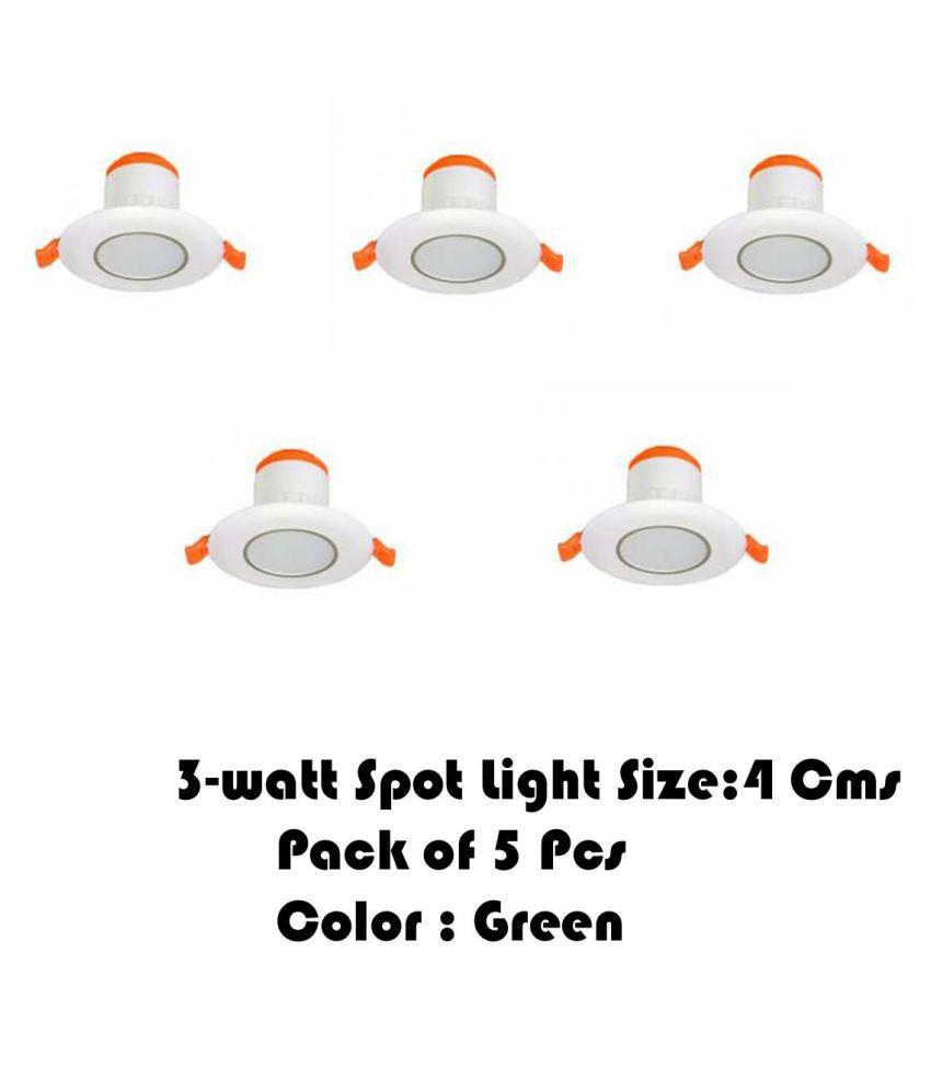 Senthur 3W Round Ceiling Light 4 cms. - Pack of 5