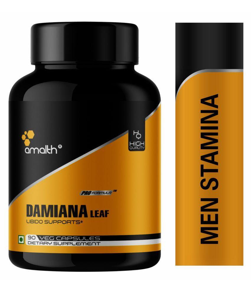 Amalth Damiana Leaf Extract Testosterone Booster for men Capsule 500 mg: Buy Amalth Damiana Leaf