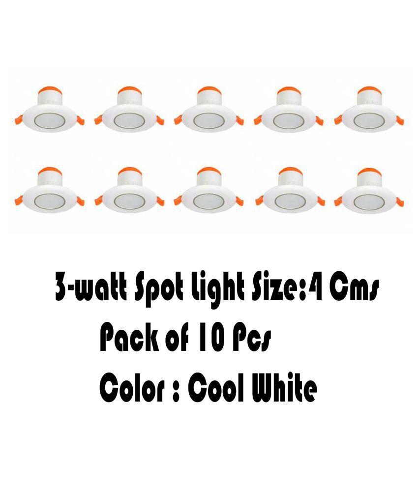 Senthur 3W Round Ceiling Light 4 cms. - Pack of 10