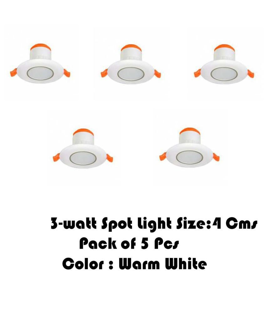Senthur 3W Round Ceiling Light 4 cms. - Pack of 5