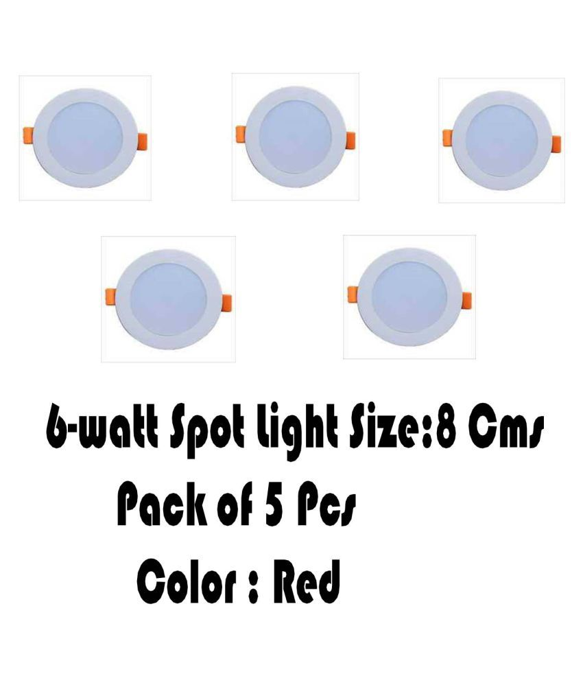 Senthur 6W Round Ceiling Light 8 cms. - Pack of 5
