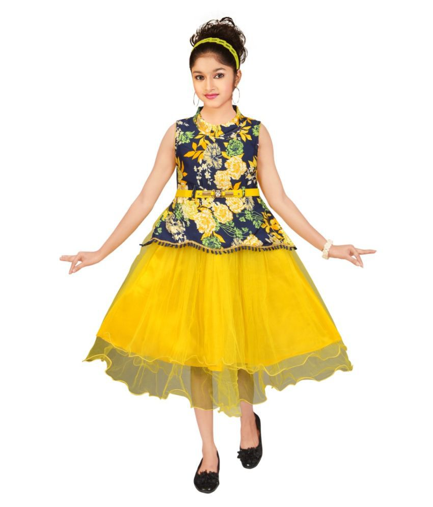 Beautiful Floral Frock For girls
