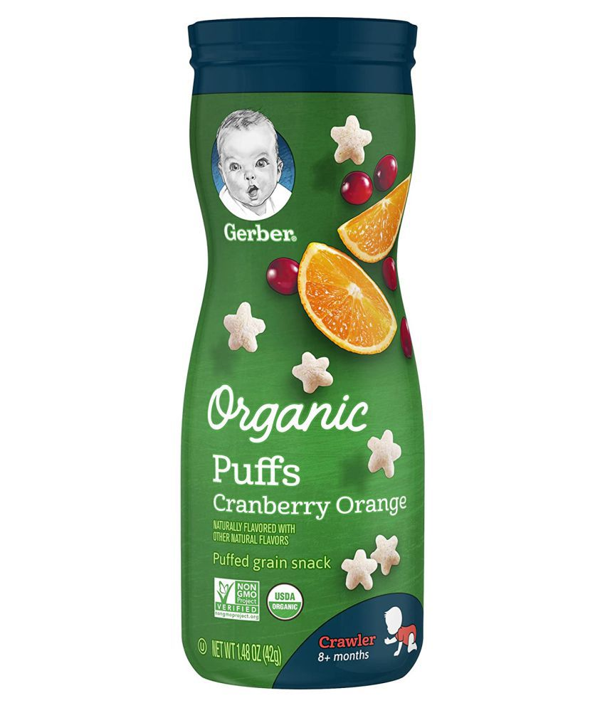 Gerber Baby Cranberry Apple Snack Foods for 6 Months + ( 42 gm )