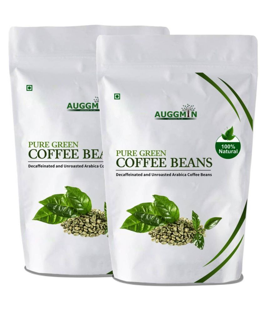 Auggmin Green Coffee Beans 400 gm Unflavoured Pack of 2