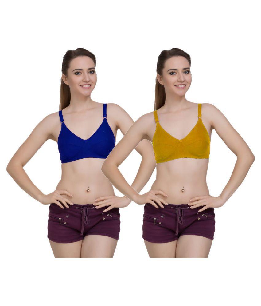 FRESH LOOK LINGERIE Cotton Everyday Bra - Multi Color