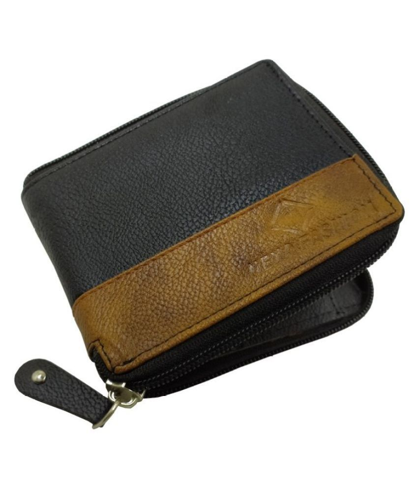 Nexa Fashion Leather Black Formal Regular Wallet