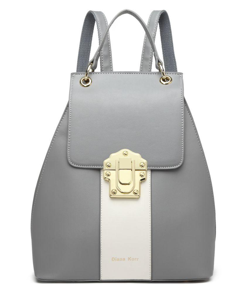 Diana Korr Gray P.U. Backpack