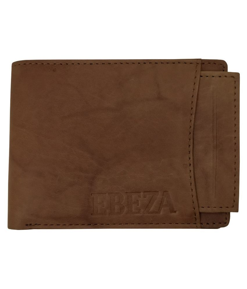 EBEZA Leather Brown Fashion Regular Wallet