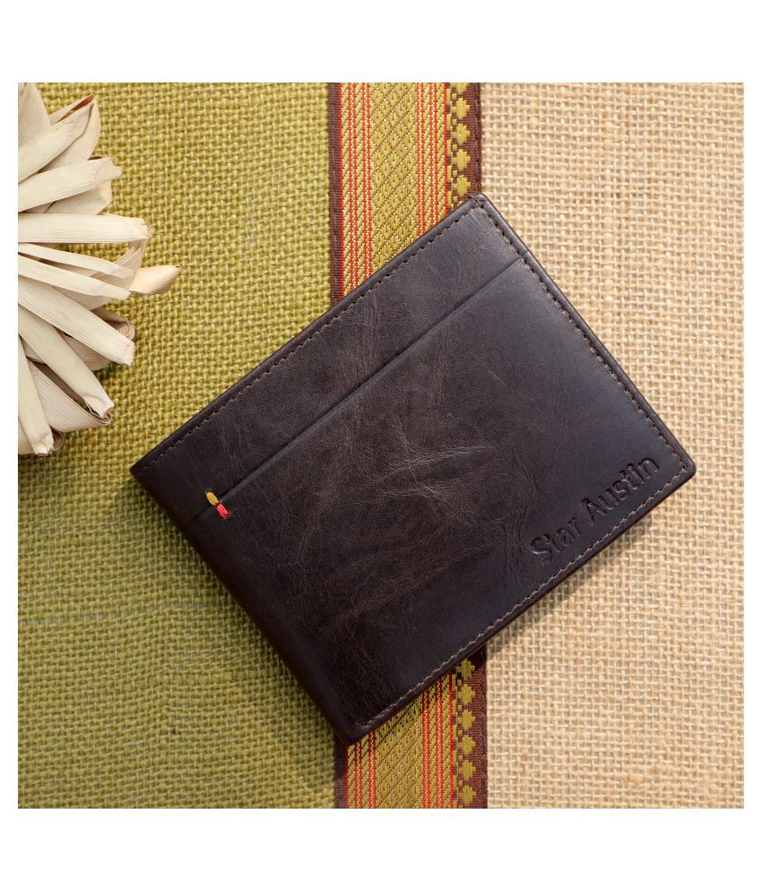 Star Austin Leather Brown Casual Regular Wallet