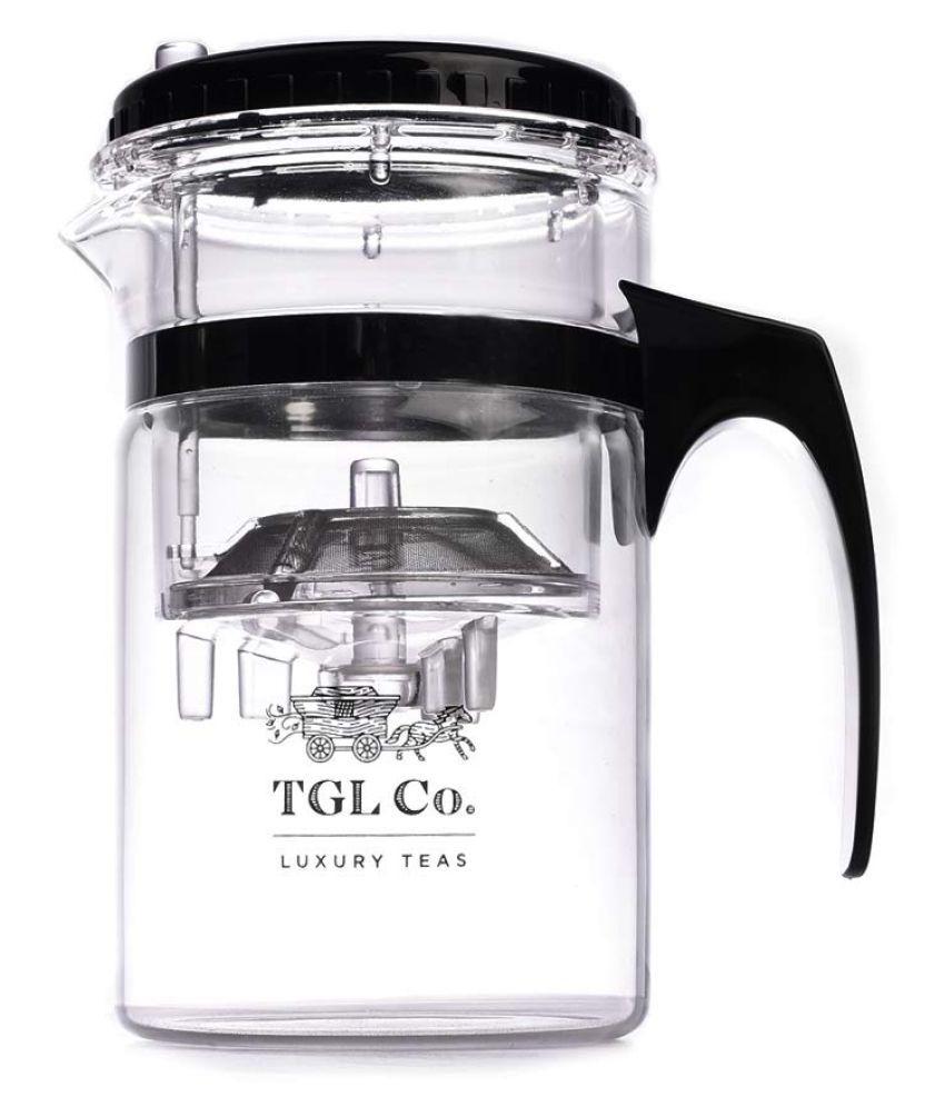 TGL Glass Kamjove Press Art Tea Cup (Black, 500ml)
