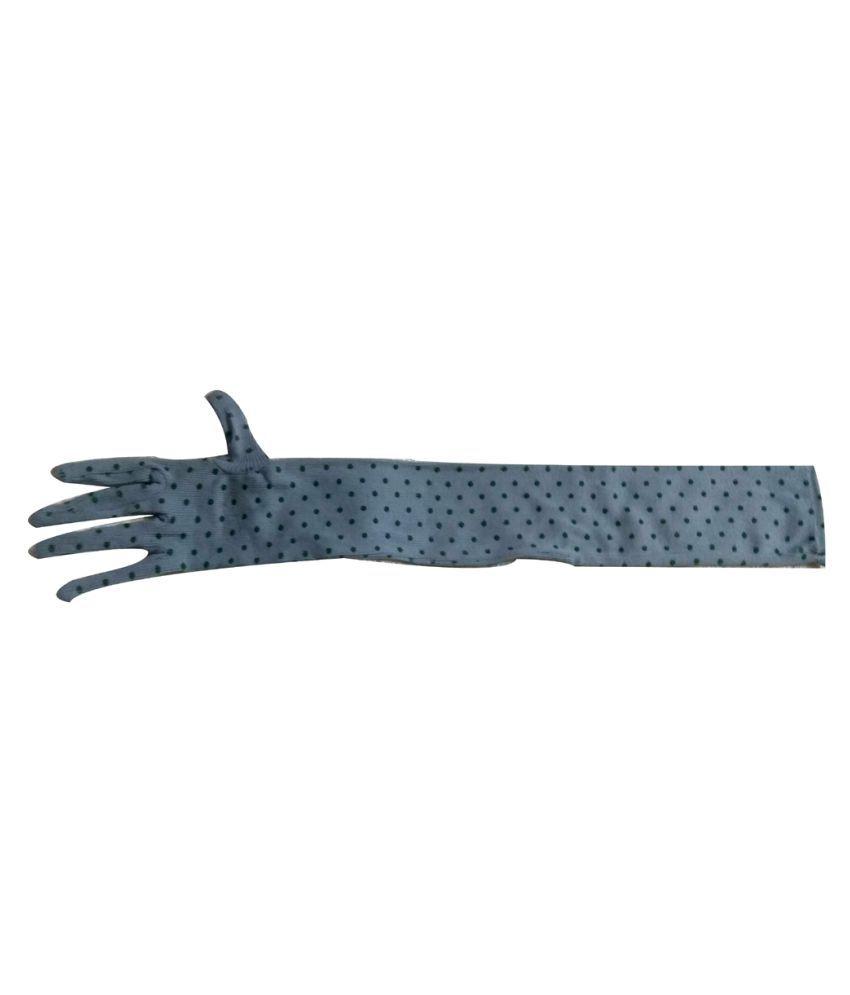 Aadikart Blue Cotton Cycling Gloves Medium