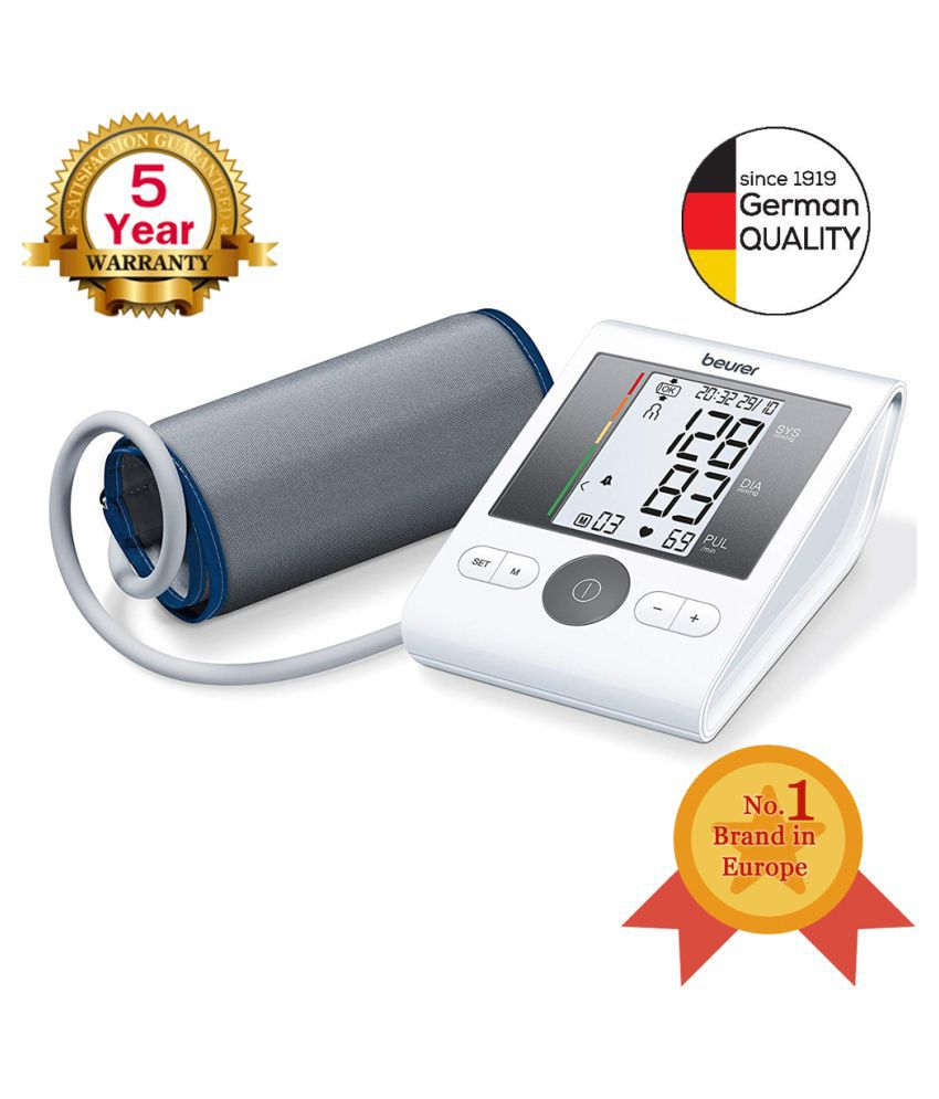 Beurer BM 28 Automatic Upper Arm Blood Pressure Monitor With Adaptor
