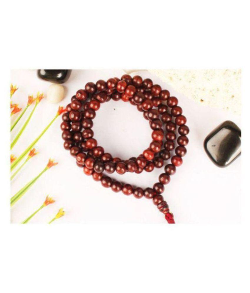 bhaune collection Spiritually Energized 108 Beads Red Sandalwood Mala Lal Chandan Mala