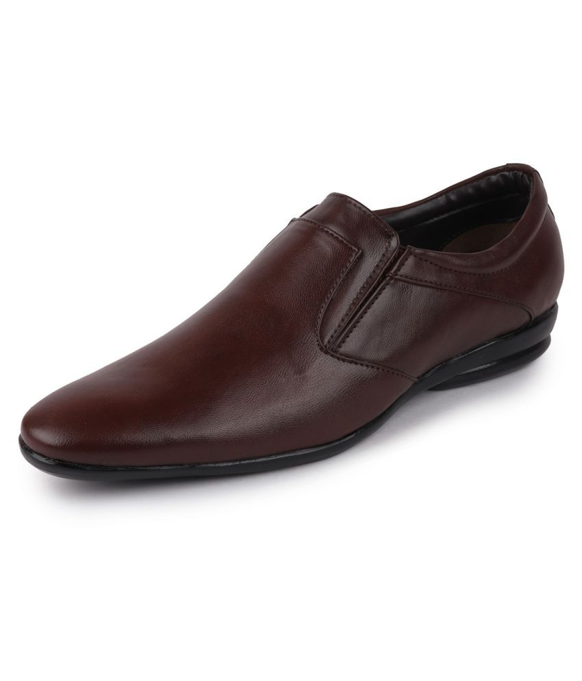 Fausto Slip On Non-Leather Brown Formal Shoes