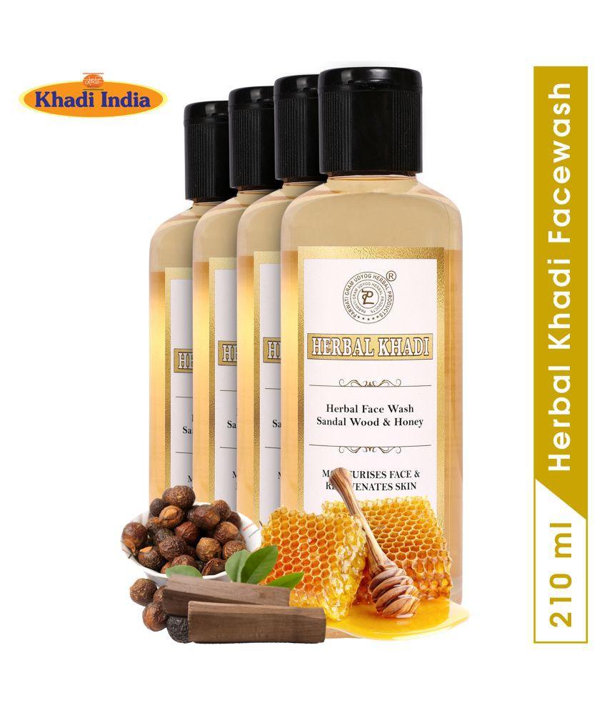 Herbal Khadi Face Wash 840 mL Pack of 4