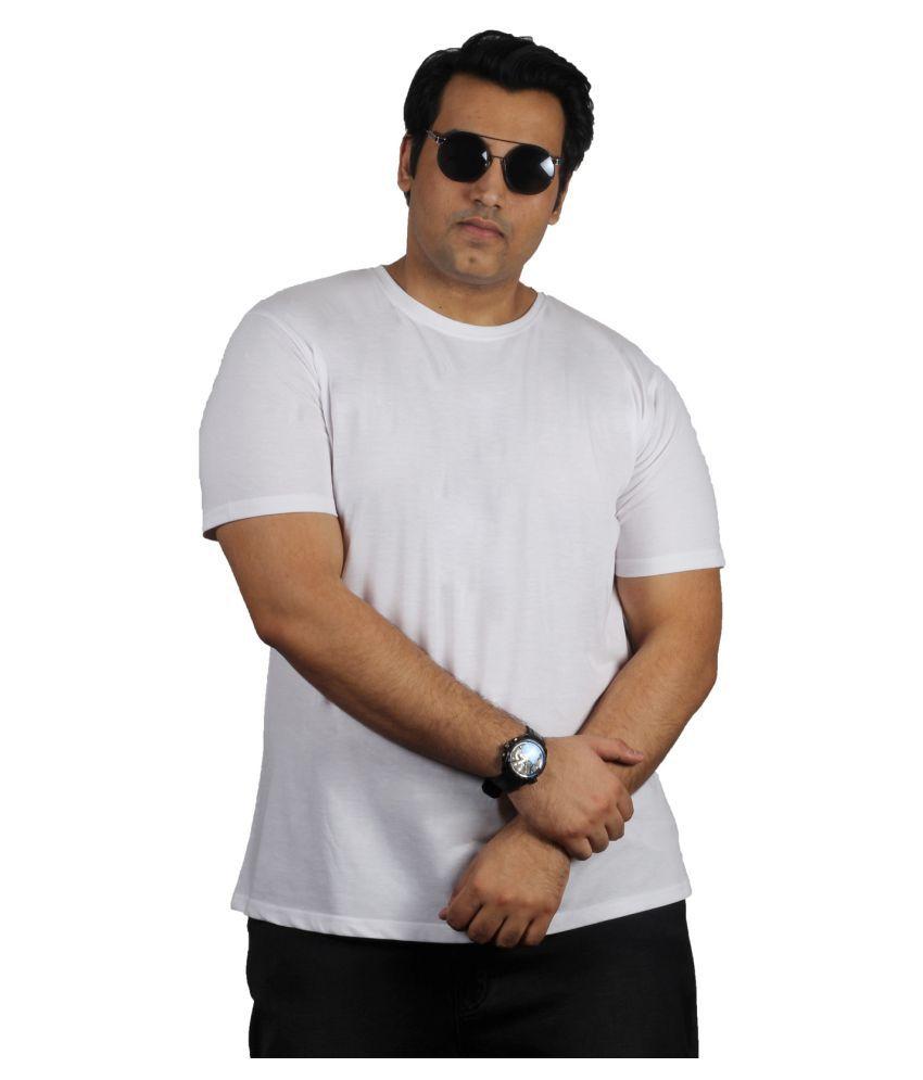 Xmex Cotton Blend White Solids T-Shirt