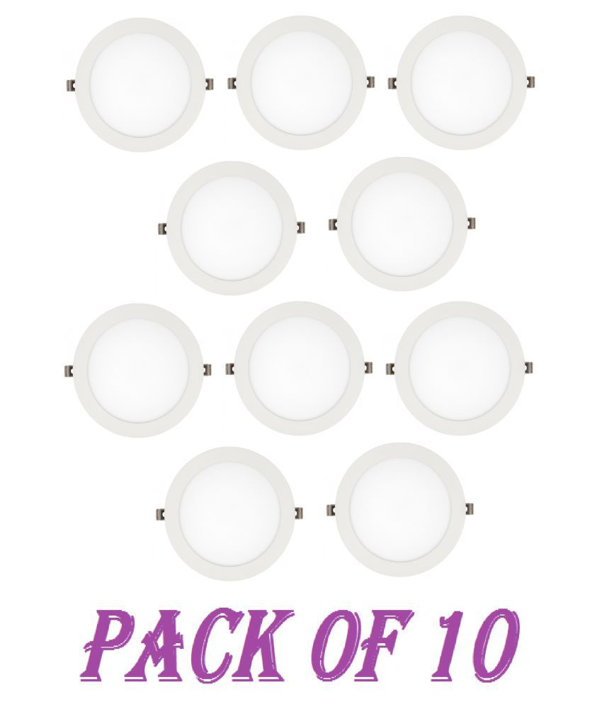 D'Mak Multi Traders 18W Round Ceiling Light 19.5 cms. - Pack of 10