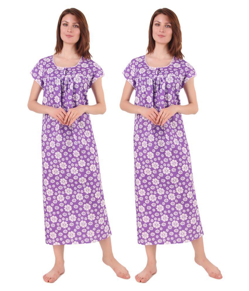 Gospel Cotton Nighty & Night Gowns - Multi Color