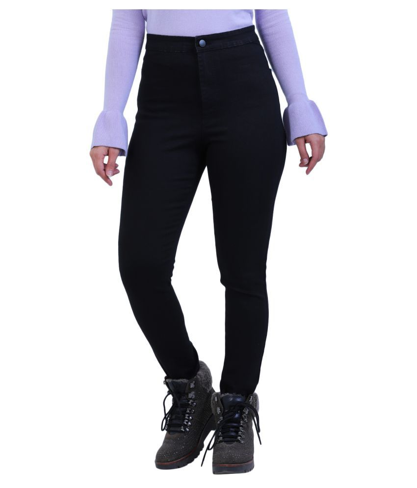 Sisney Cotton Lycra Jeans - Black