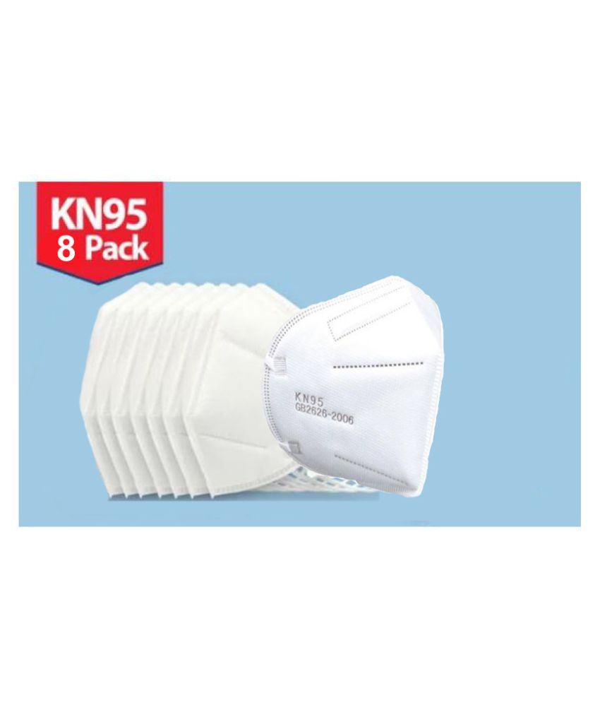 Hitage KN-95 Anti Pollution/Dust Mask Pack of 8