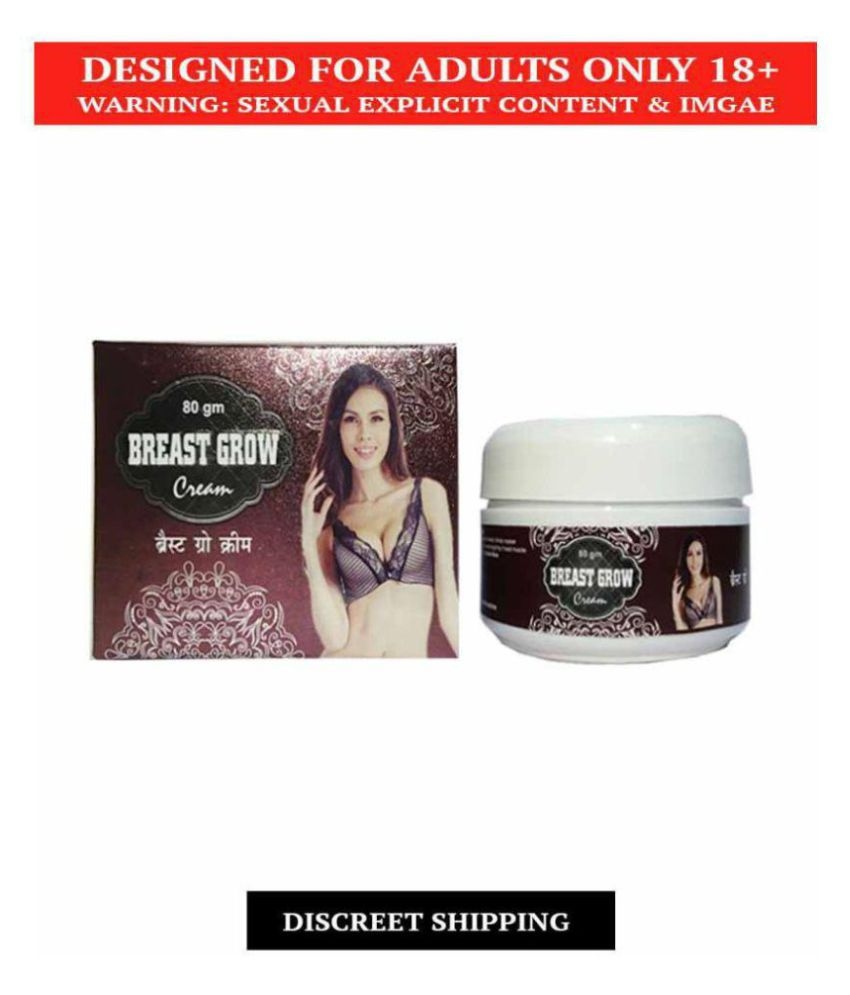 Natural Breast Grow Cream, 80gm For Women, 100% Ayurvedic Product