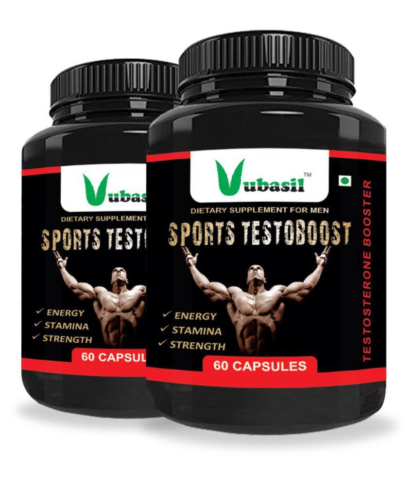 VUBASIL Natural Testorane Booster - Testoboost Capsule 120 no.s Pack Of 2
