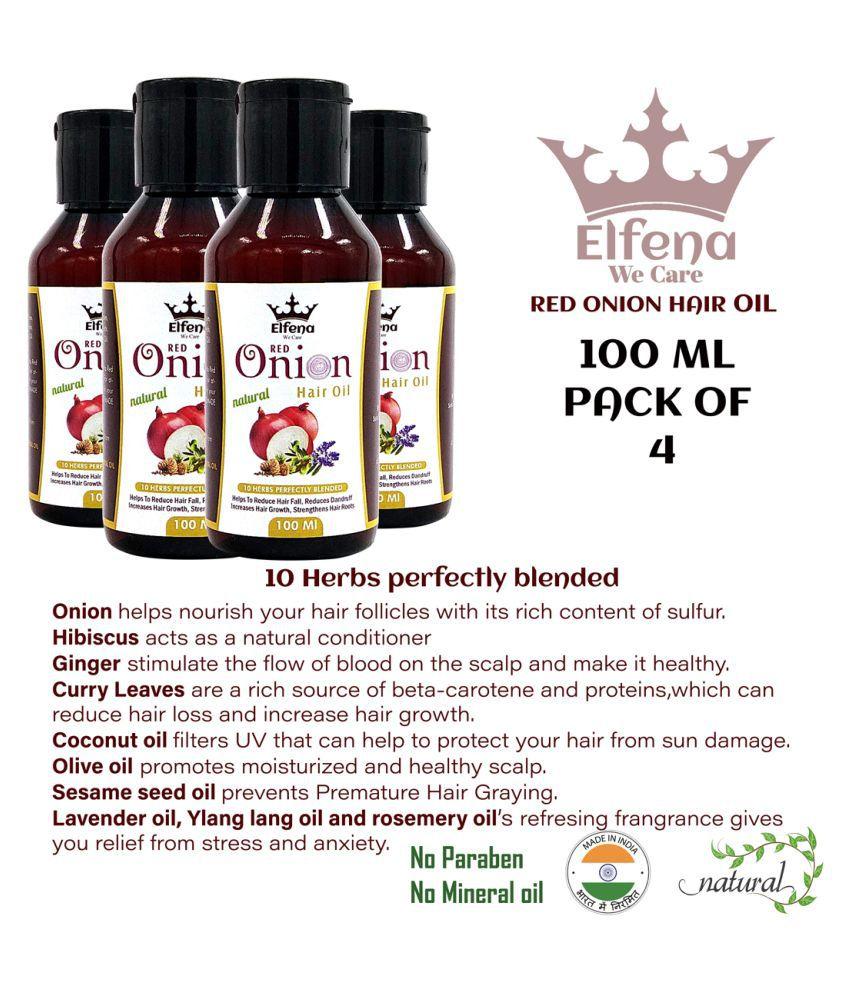 ELFENA RED ONION HAIR OIL 100Ml X 4 100 mL Pack of 4