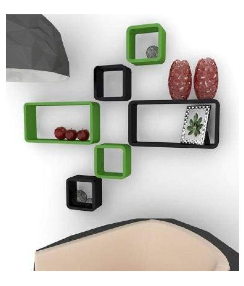 Living Home Styles Floating Shelves Multicolour MDF - Pack of 1