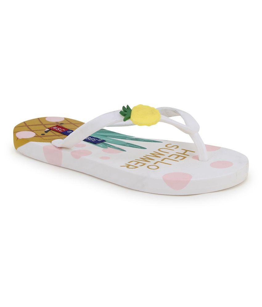MSC White Slippers