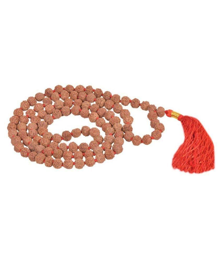 Rudraksha Pathariya Mala 108 Beads | 5 mukhi Rudraksha Chikni mala | Size of Rudraksha Beads 8mm |Highest Quality of rudraksh Mala Available | rudra Divine