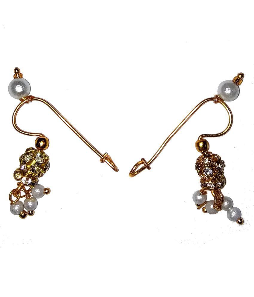 Traditional Press Bugadi Upper Ear Clip-On Earrings For Women/Girls