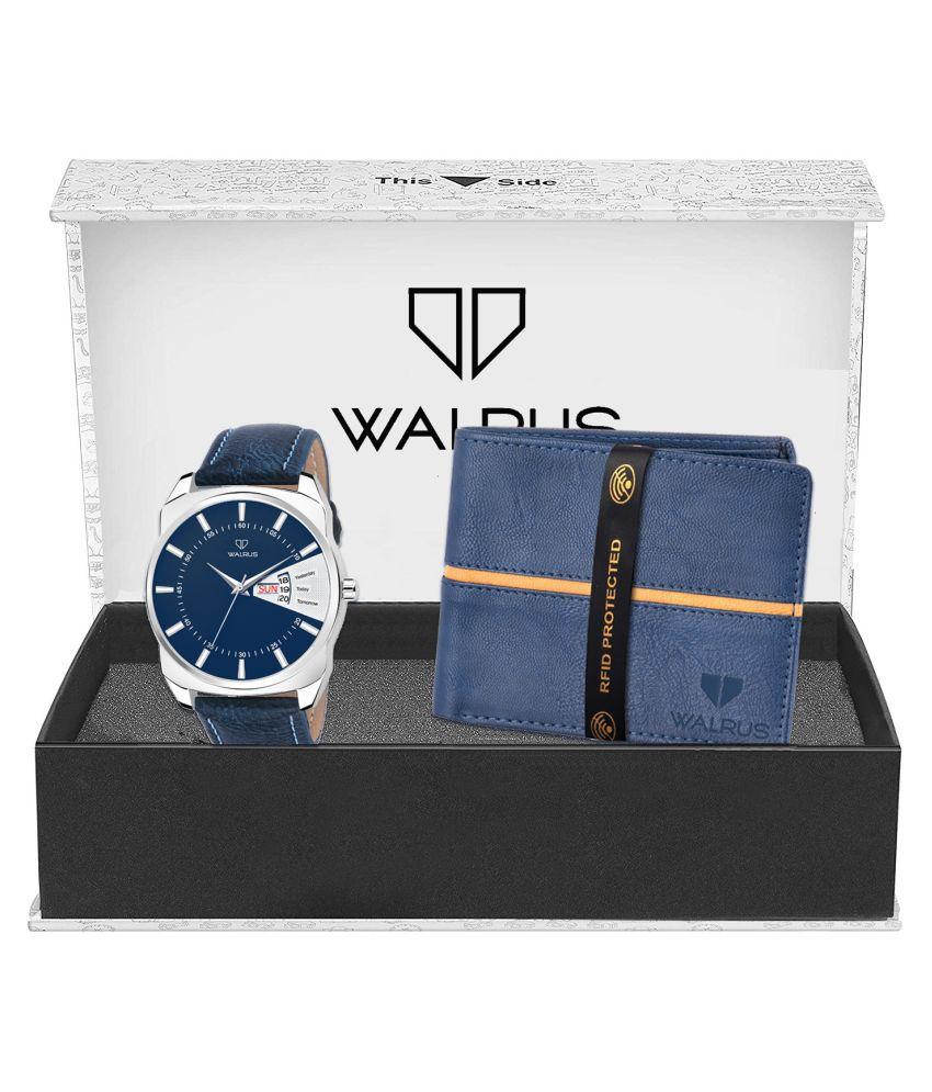 Walrus WWWC COMBO62 Leather Analog Men #039;s Watch