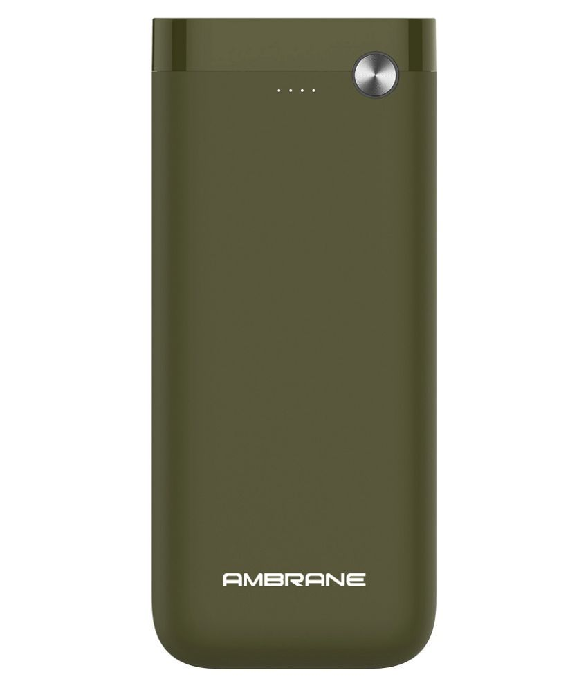 Ambrane PP 20 20000  mAh Li Polymer Power Bank Olive Green