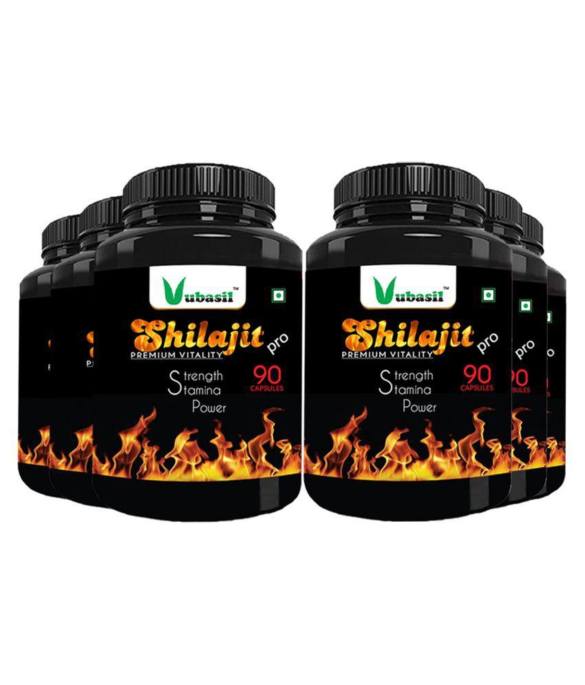 VUBASIL Pure Shilajit - Herbal Shilajeet Extract Capsule 540 no.s Pack Of 6