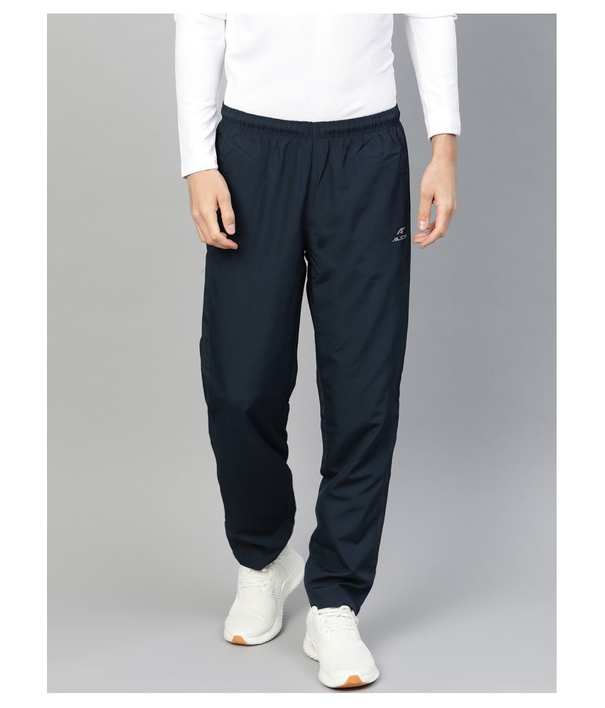 Alcis Navy Polyester Trackpants Single