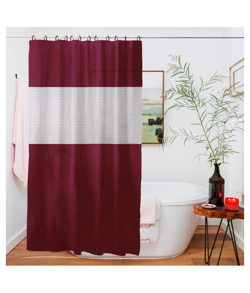 Story@Home Single Door Semi-Transparent Eyelet PVC Curtains Maroon