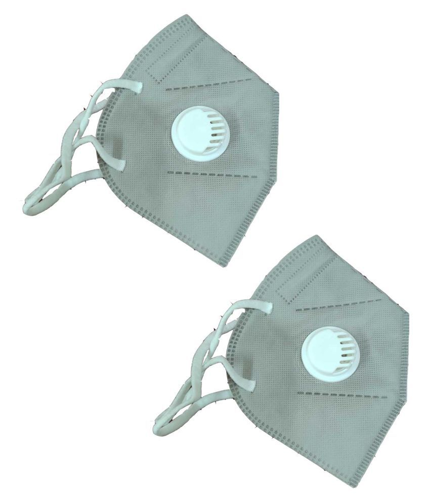 GREY MASK KN95 2 PC PACK
