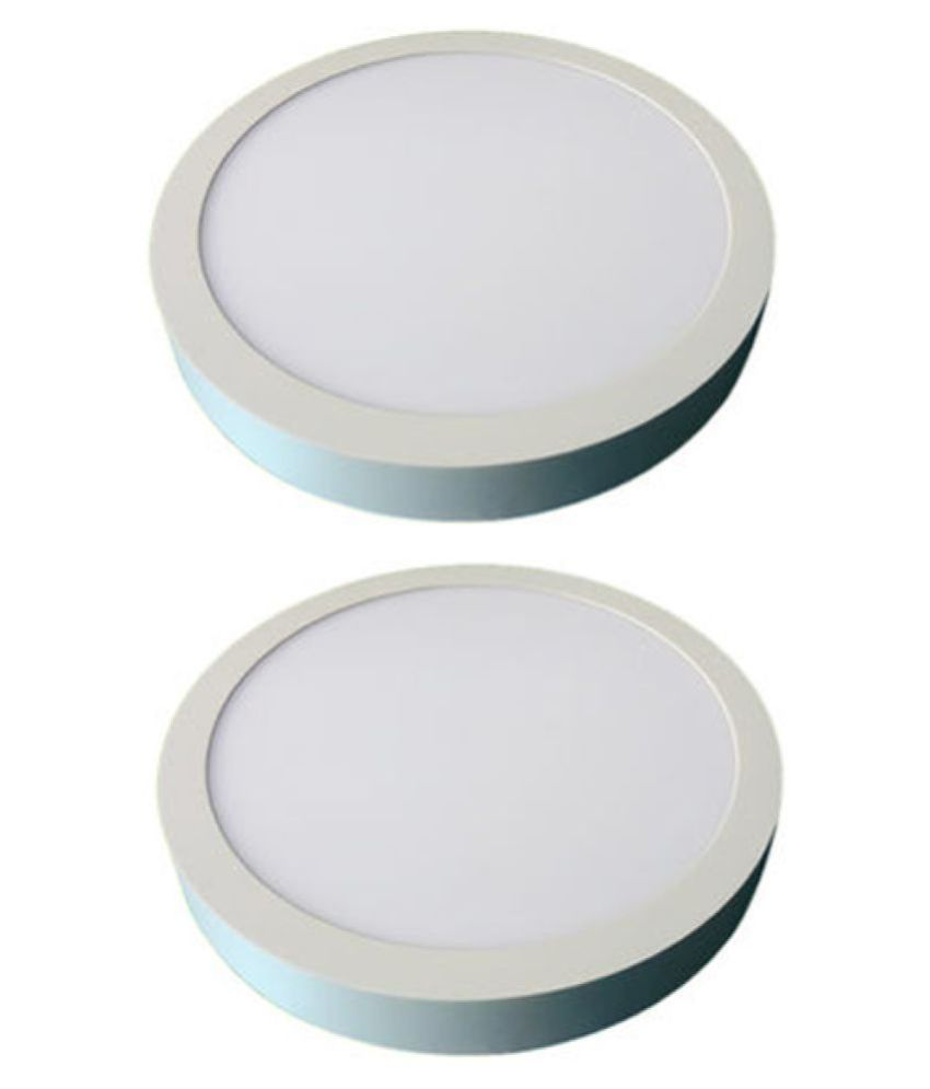 D'Mak Surface 22W Round Ceiling Light 21 cms. - Pack of 2