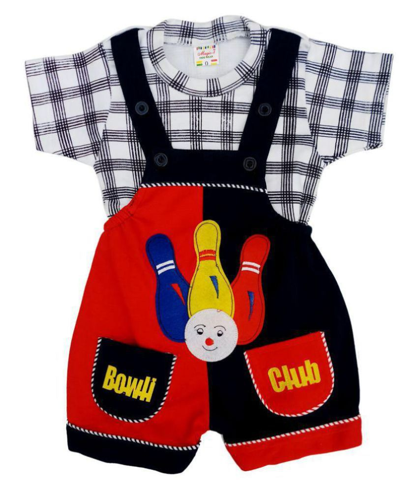 Magic-1 I-Top & Bottom Dungaree Set For Baby Boy