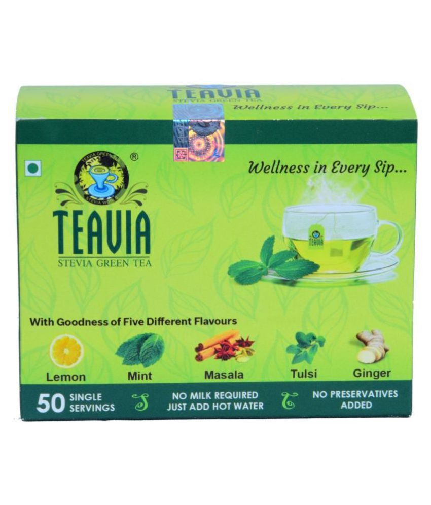 Teavia - Stevia Green Tea Bags Weight Loss Tea Bags 60 gm Pack of 2