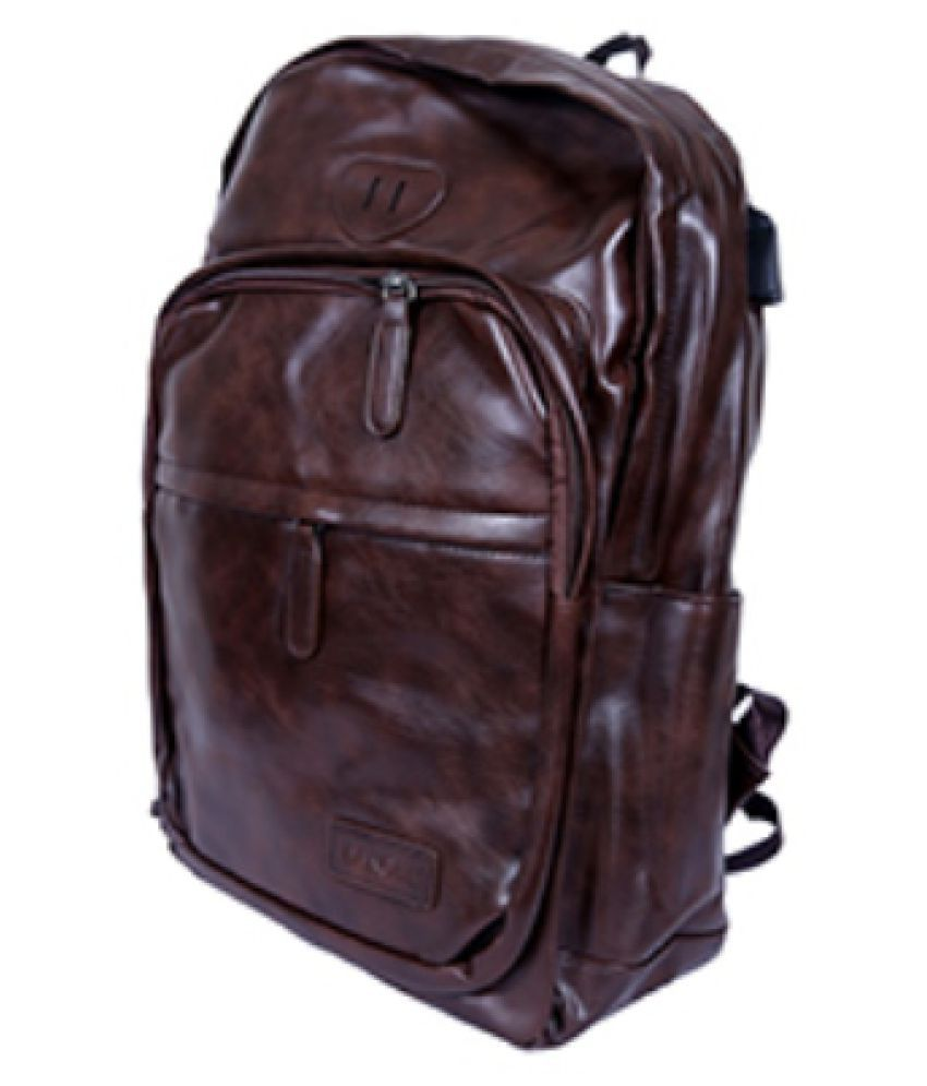 jazzkart Brown Leather Office Bag