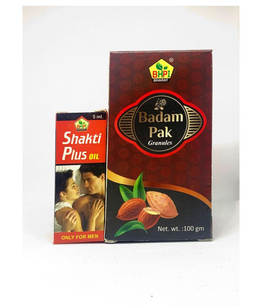 HERBOMEDS Badam Pak with Shakti Plus Oil 5ml Powder 200 gm Pack Of 1