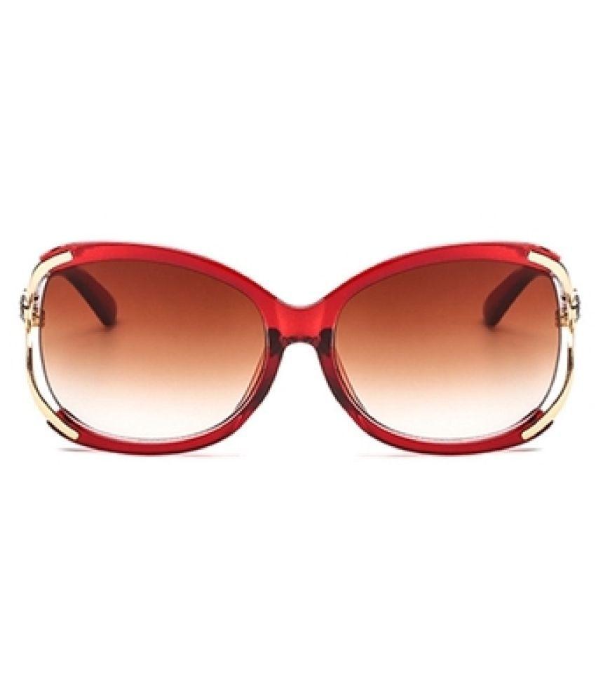 Isabelle chardon - Red Round Sunglasses ( 811002 )